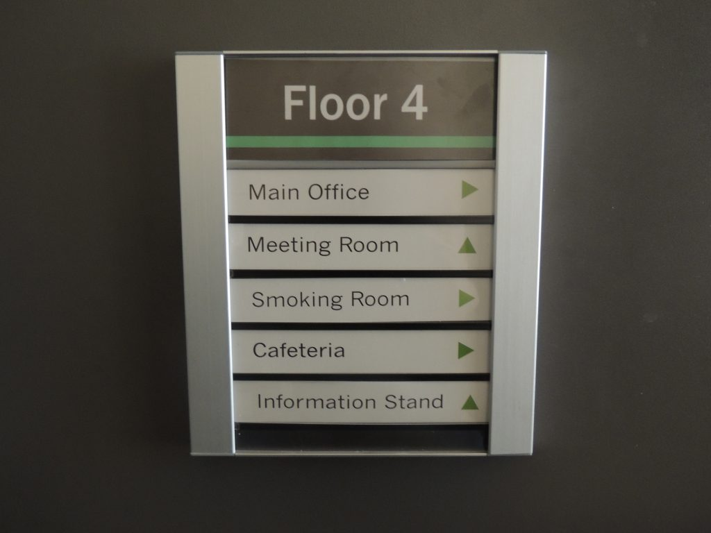 Office Directory Sign Frame Inserts