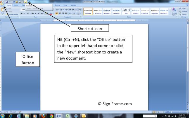 Make Paper Signs Step 1
