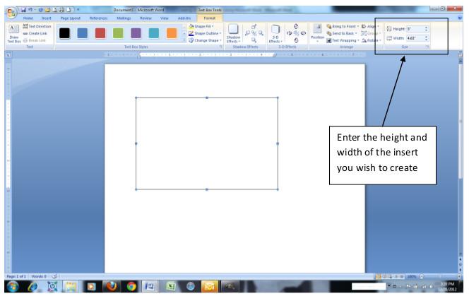 Make Frame Inserts Step 3
