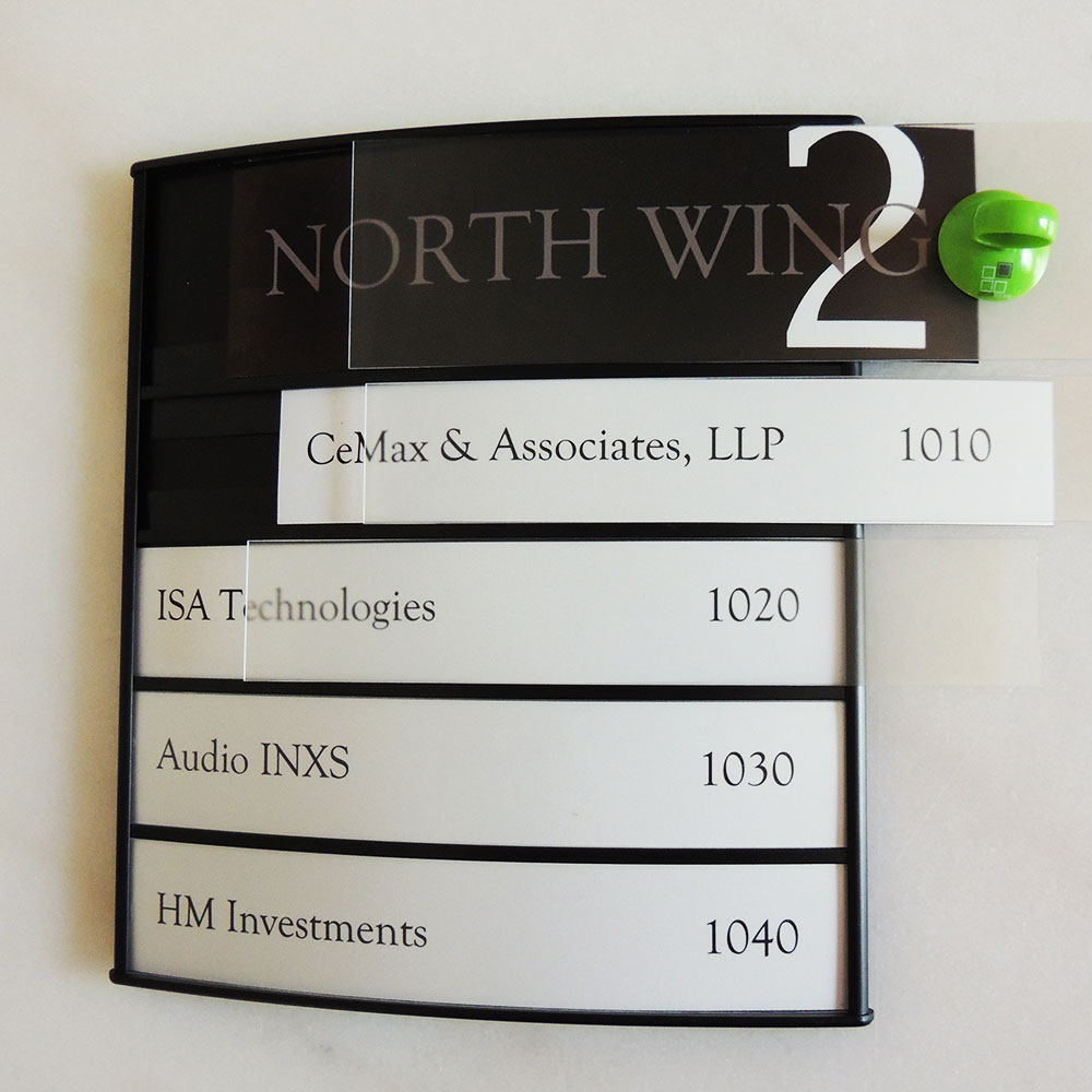 "Directory Sign - 11""H x 11""W - D39"