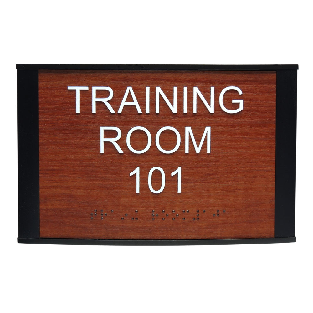 "ADA Braille Office Sign - 6""H x 9.25""W - VP-WFNP78"