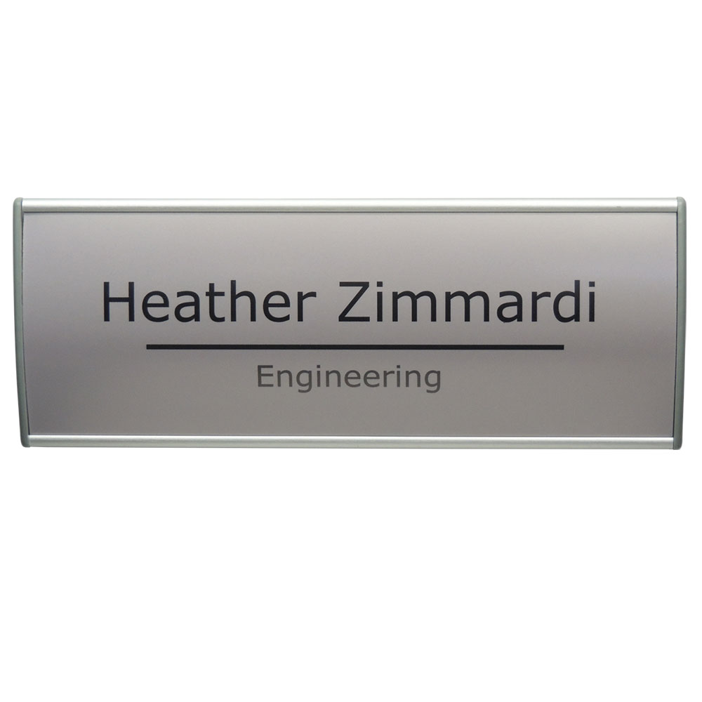 Vista Vertical Curved Office Sign - G130