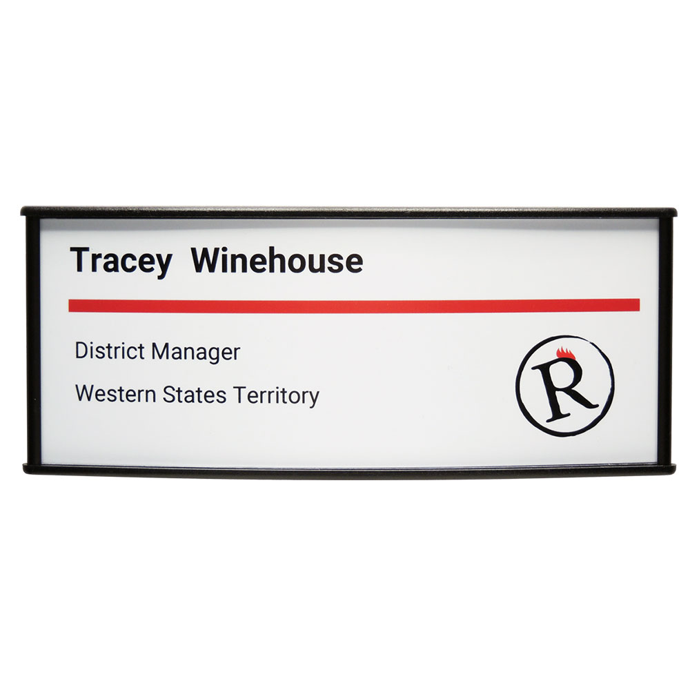 Vista Horizontal Curved Office Sign - G120