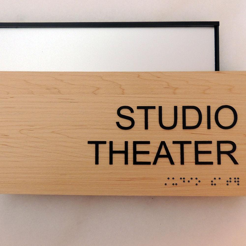 """ADA Braille Office Sign - 4""""H x 8.5""""W - VP-WFS2E70"""
