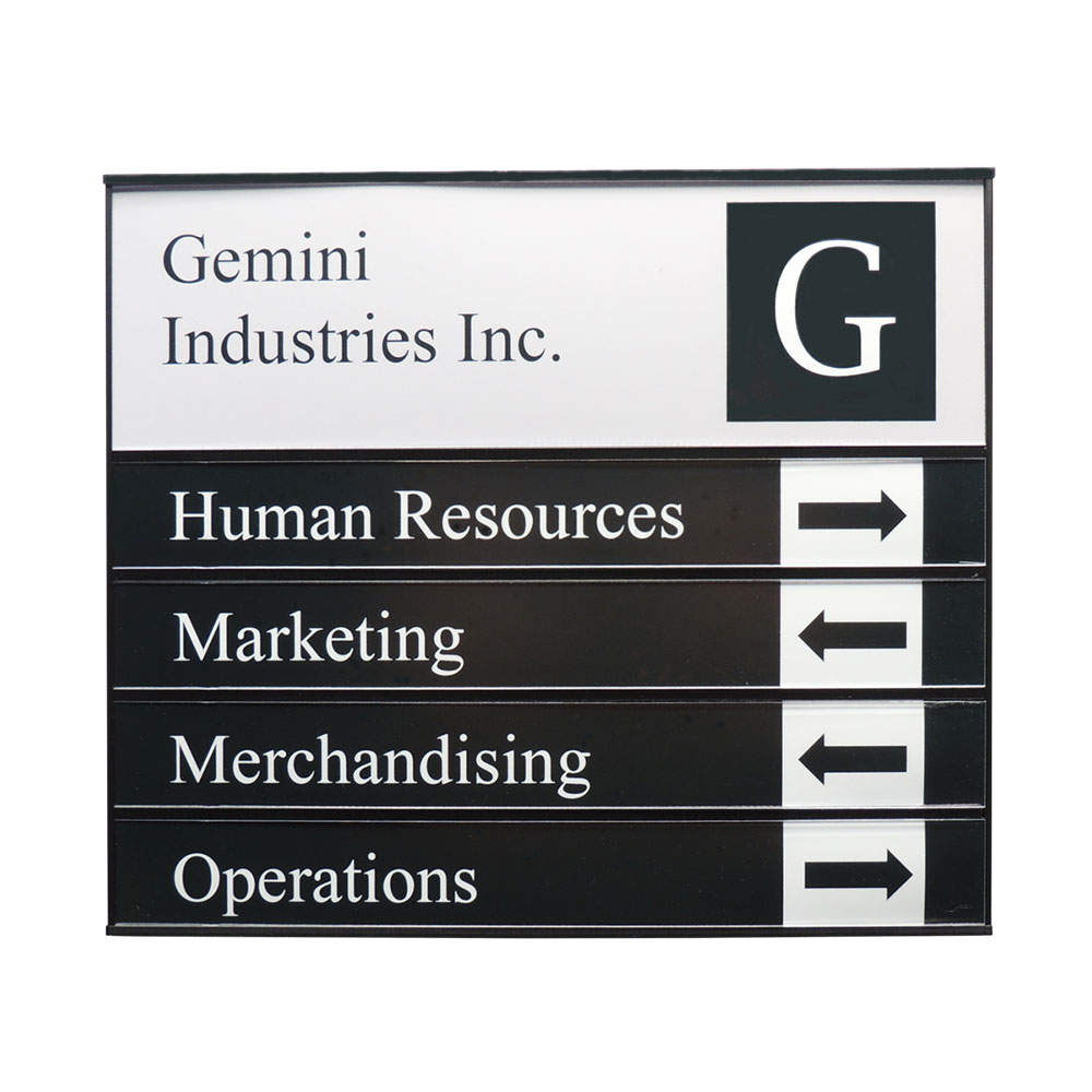 Sharp Portrait Directory Sign - G1160