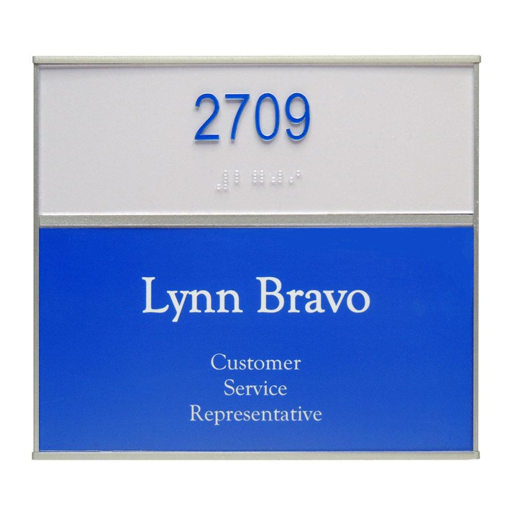 """ADA Braille Office Sign - 8""""H x 5.75""""W (2"""" ADA Top) - VC-WFS2E40"""