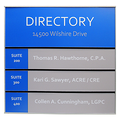 Vista Square Office Directory Sign Frame