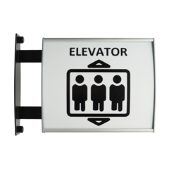 Vertically Curved Vista System Hallway Sign 2