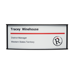 Horizontally Curved Vista System Office Sign 2