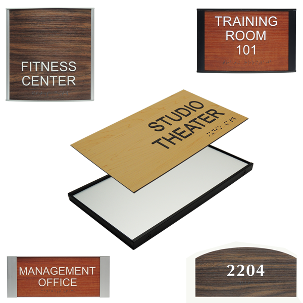 Wooden Signs and restroom signage category image