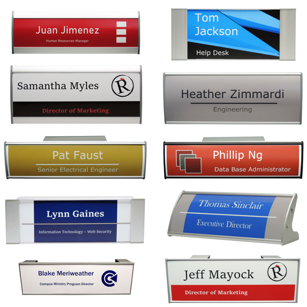 Name Plates and restroom signage category image