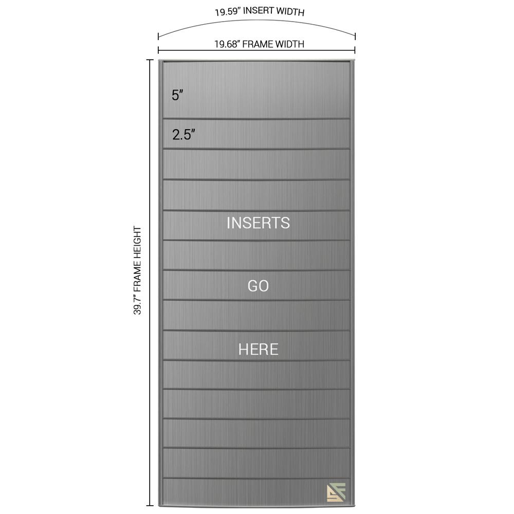 "Directory Sign - 39""H x 20""W - D16"