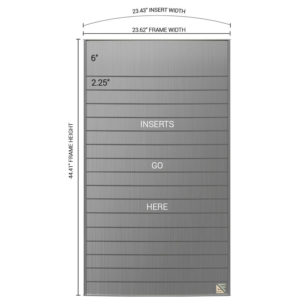 "Directory Sign - 43""H x 23.5""W - D21"