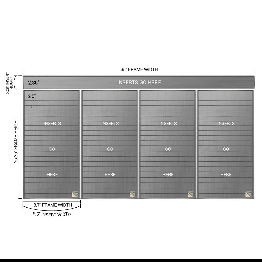 "Directory Sign - 26.25""H x 35""W - D33"
