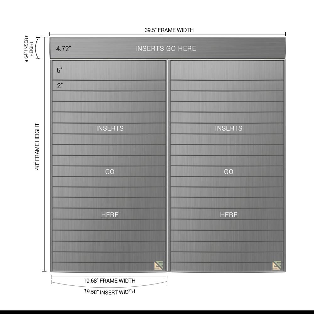 "Directory Sign - 48""H x 39.5""W - D36"