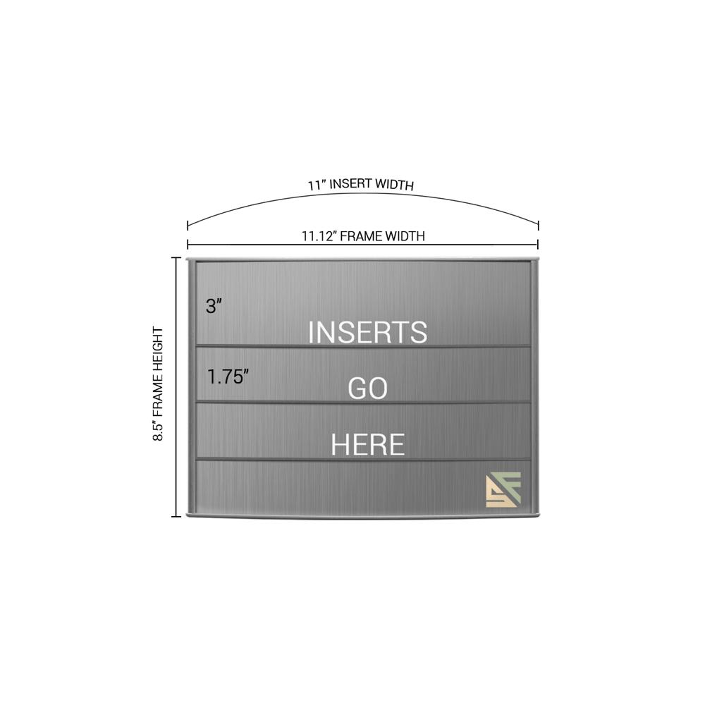 "Directory Sign - 8.5""H x 11""W - D38"