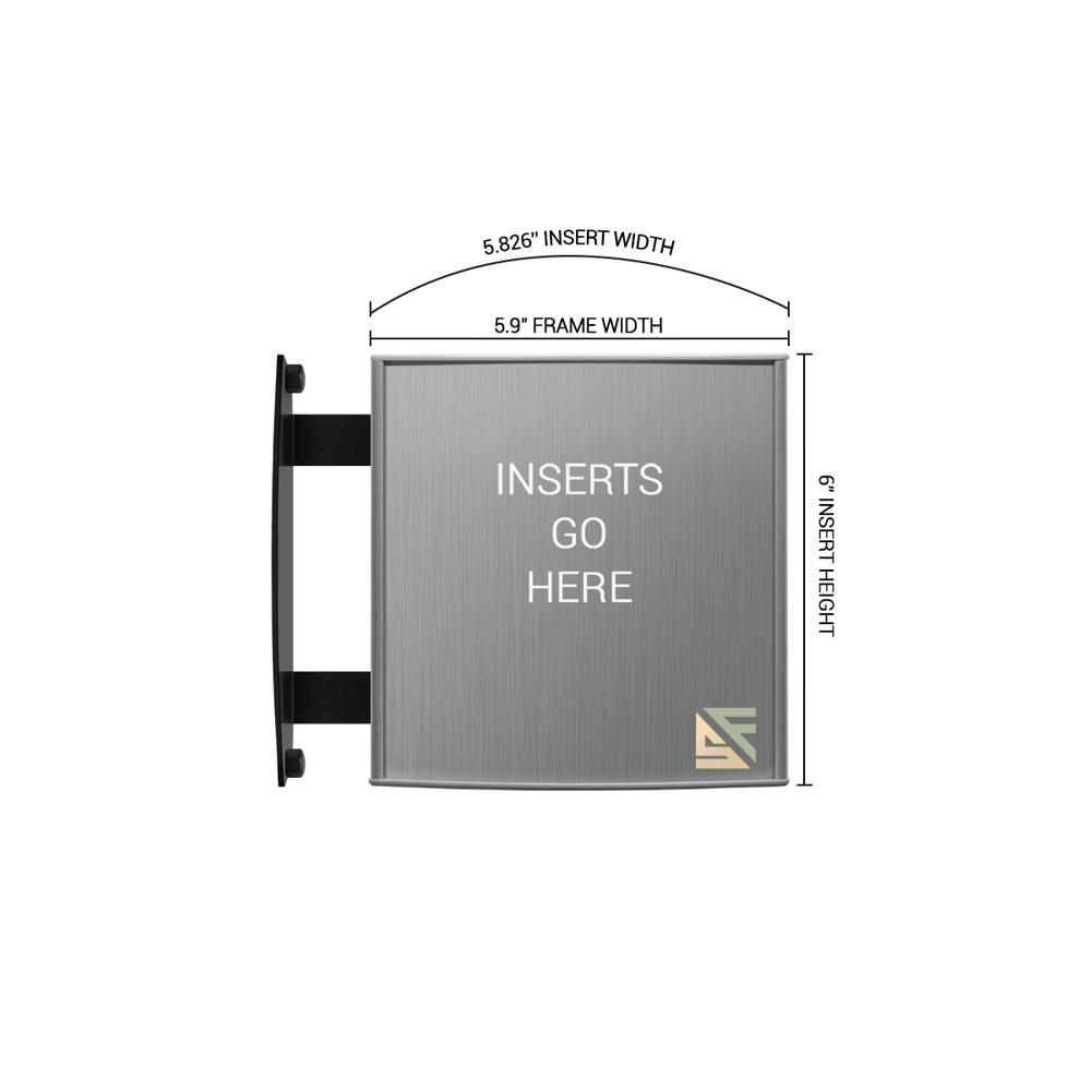"""Hallway Sign - 6""""H x 6""""W - WBS3"""