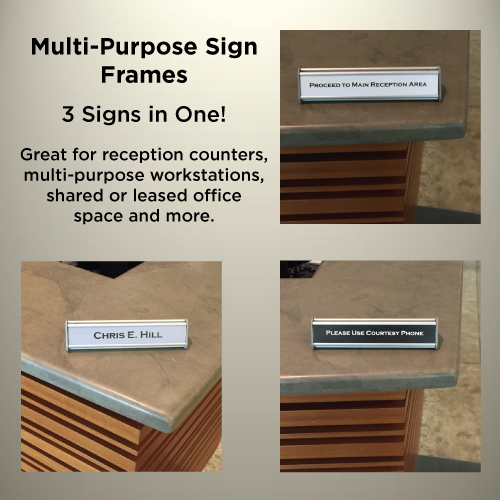 """Table Sign - 1""""H x 10""""W - T44"""