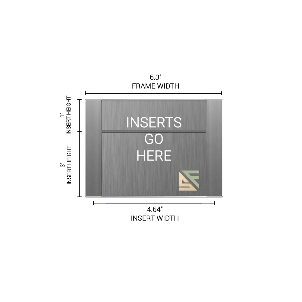 """Office Sign - 4""""H x 6.25""""W (1"""" Top) - WFFP13"""