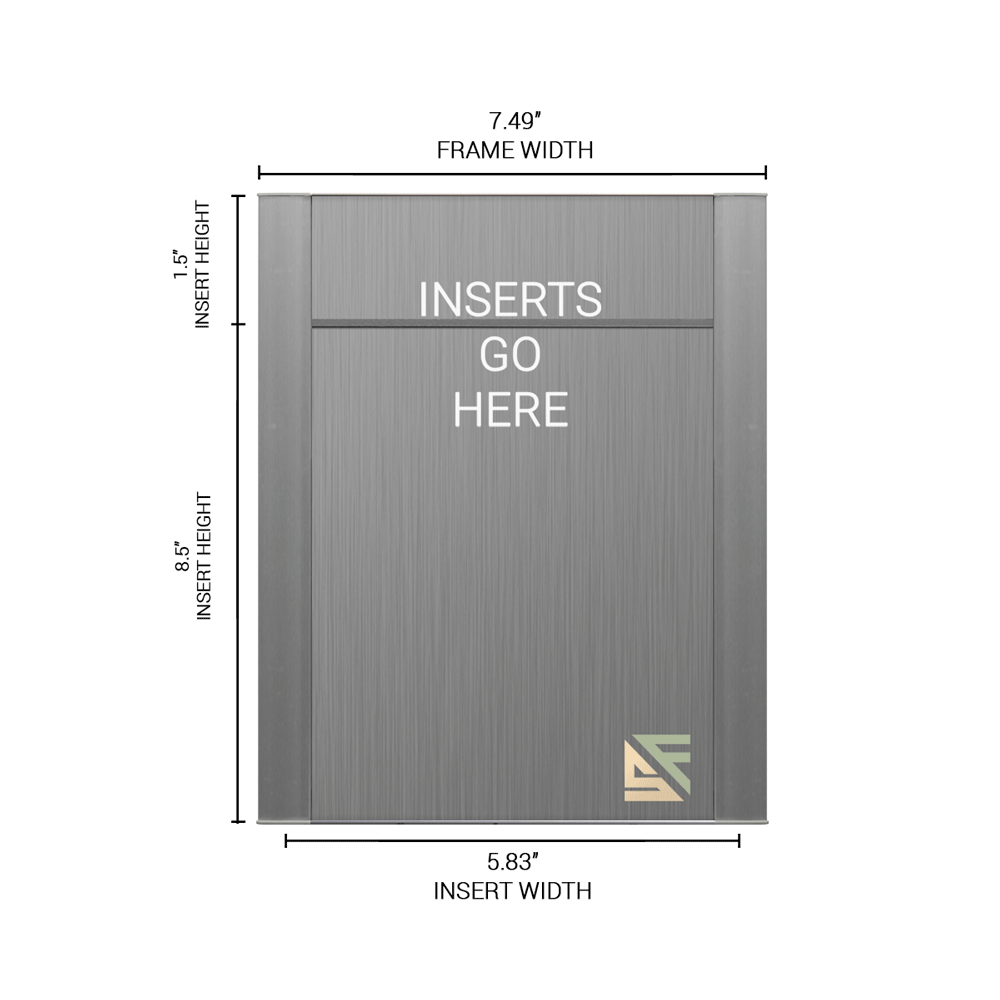 """Office Sign - 10""""H x 7.5""""W (1.5"""" Top) - WFFP155"""
