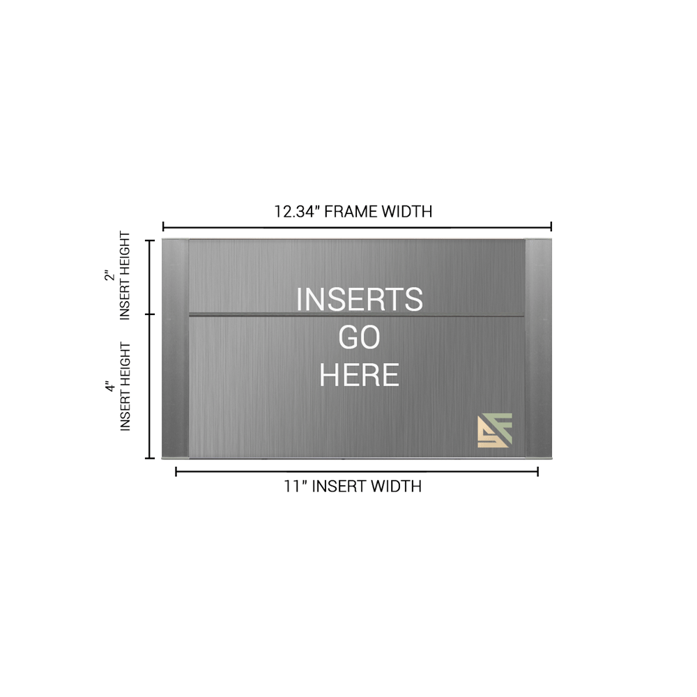 """Office Sign - 6""""H x 12.25""""W (2"""" Top) - WFFP159"""