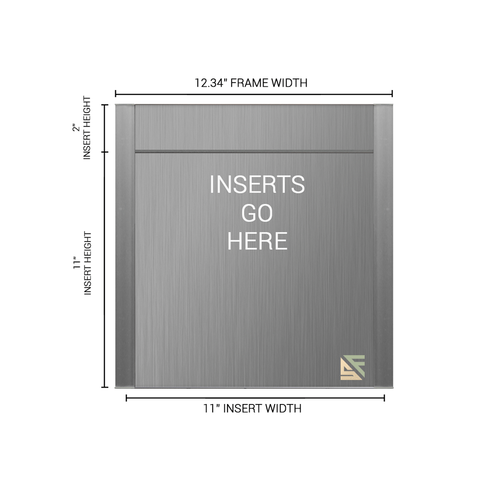 """Office Sign - 13""""H x 12.25""""W (2"""" Top) - WFFP165"""