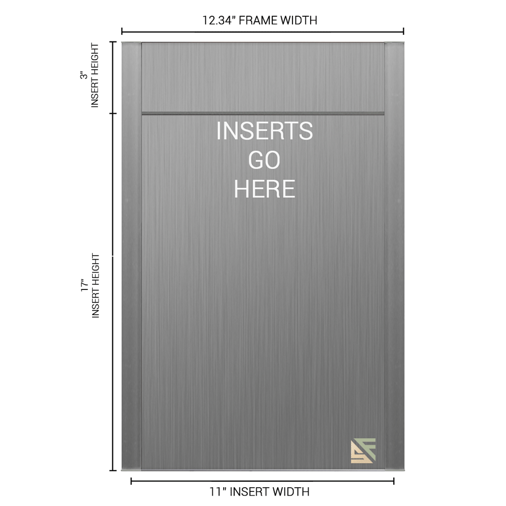 """Office Sign - 20""""H x 12.25""""W (3"""" Top) - WFFP169"""