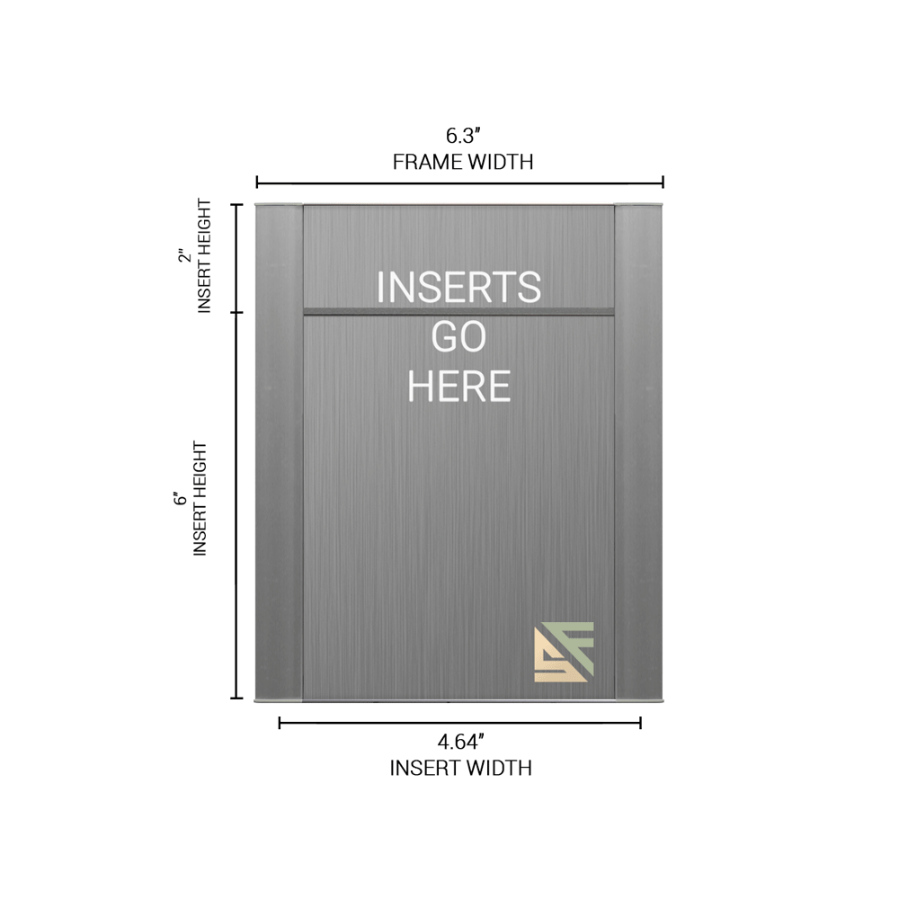 """Office Sign - 8""""H x 6.25""""W (2"""" Top) - WFFP20"""