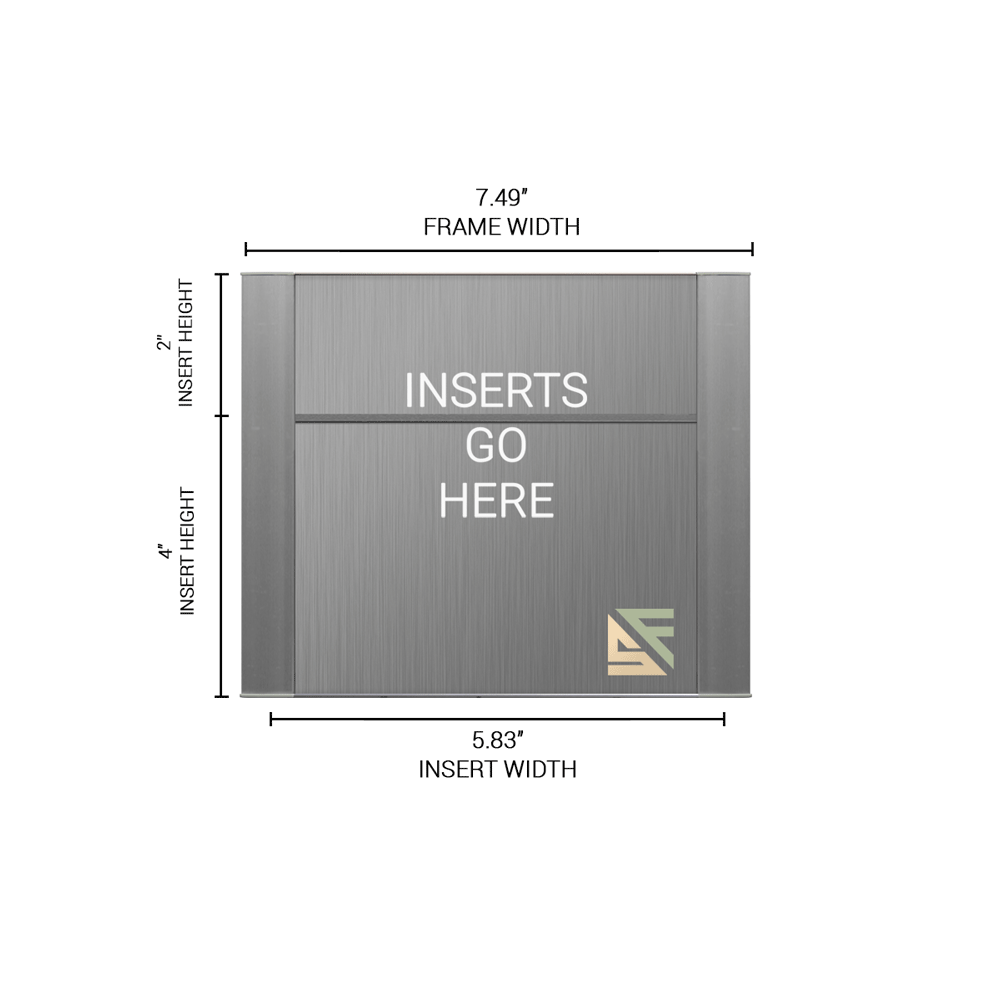 """Office Sign - 6""""H x 7.5""""W (2"""" Top) - WFFP31"""