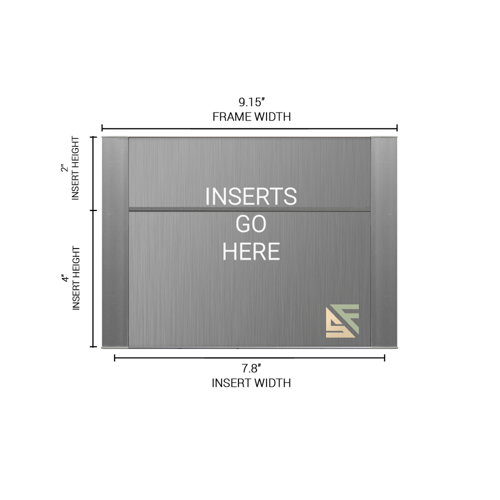 """Office Sign - 6""""H x 9""""W (2"""" Top) - WFFP45"""