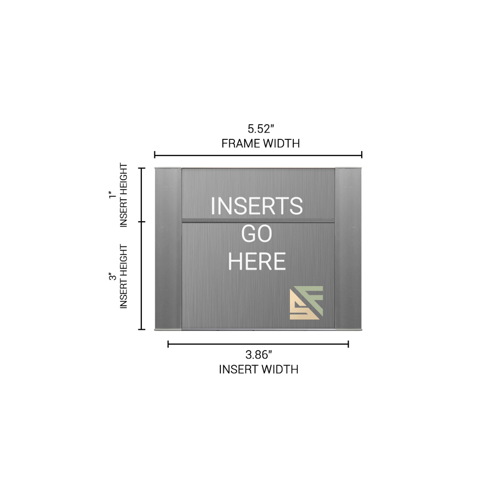 """Office Sign - 4""""H x 5.5""""W (1"""" Top) - WFFP4"""