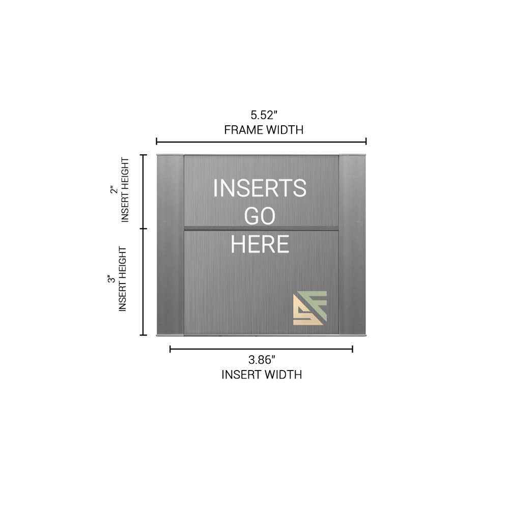 """Office Sign - 5""""H x 5.5""""W (2"""" Top) - WFFP6"""