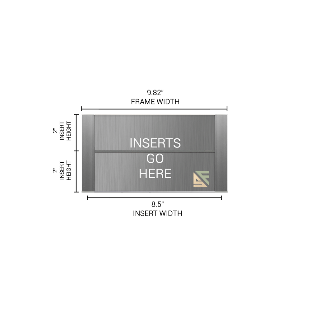 """Office Sign - 4""""H x 10""""W (2"""" Top) - WFFP76"""