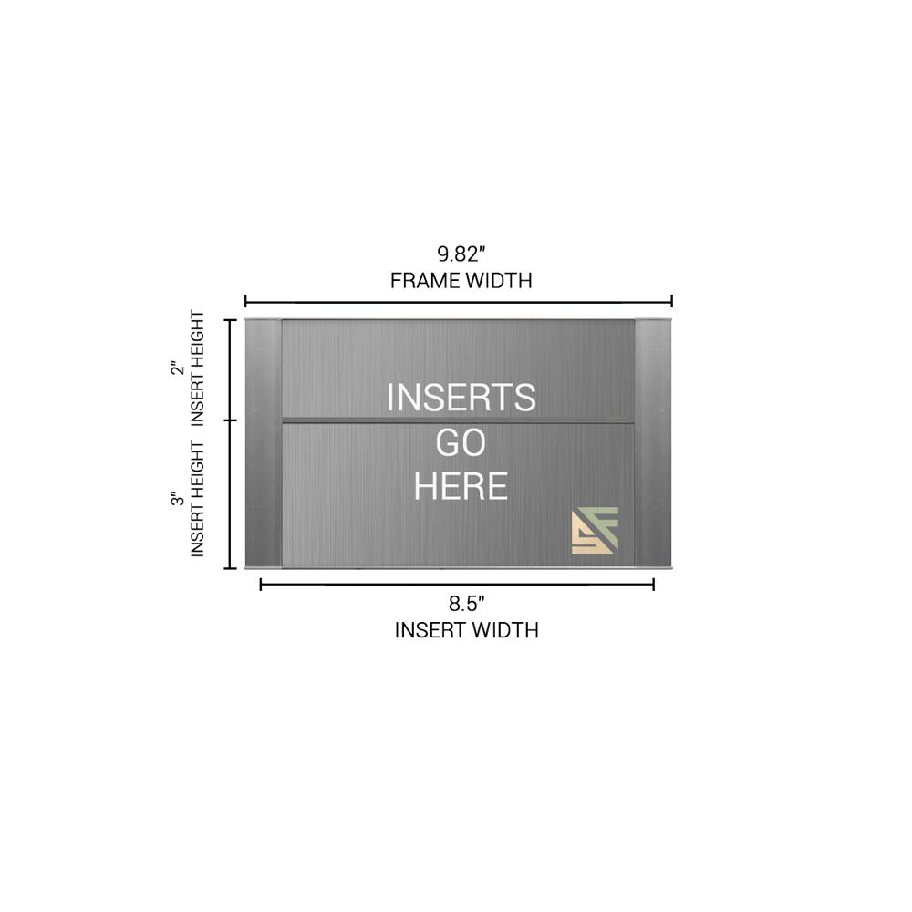 """Conference Room & Slider Sign - 5""""H x 10""""W - FLTRX5"""