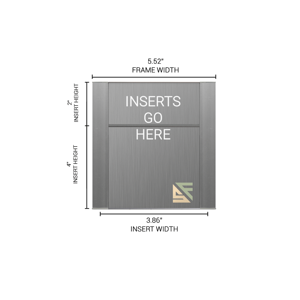 """Office Sign - 6""""H x 5.5""""W (2""""Top) - WFFP8"""