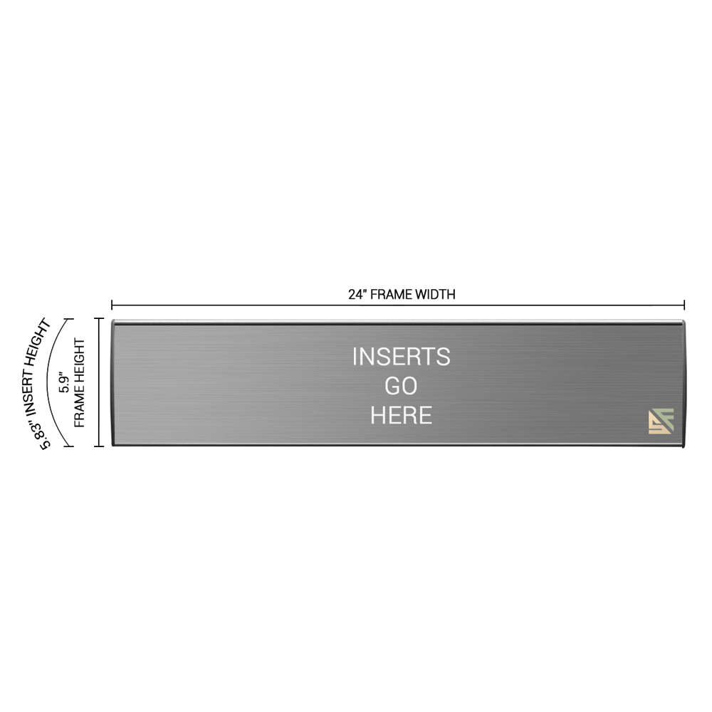 """Office Sign - 6""""H x 24""""W - WFL36"""