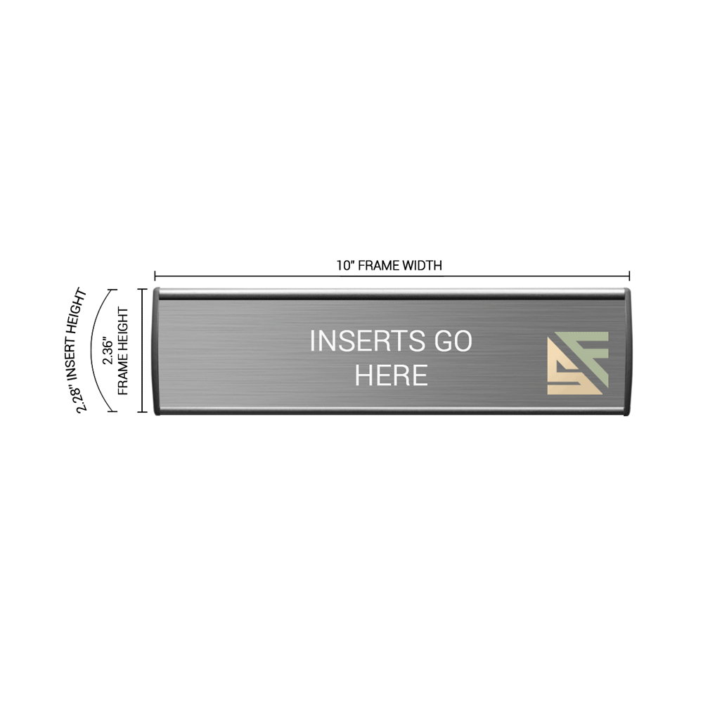 """Office Sign - 2.25""""H x 10""""W - WFL4"""