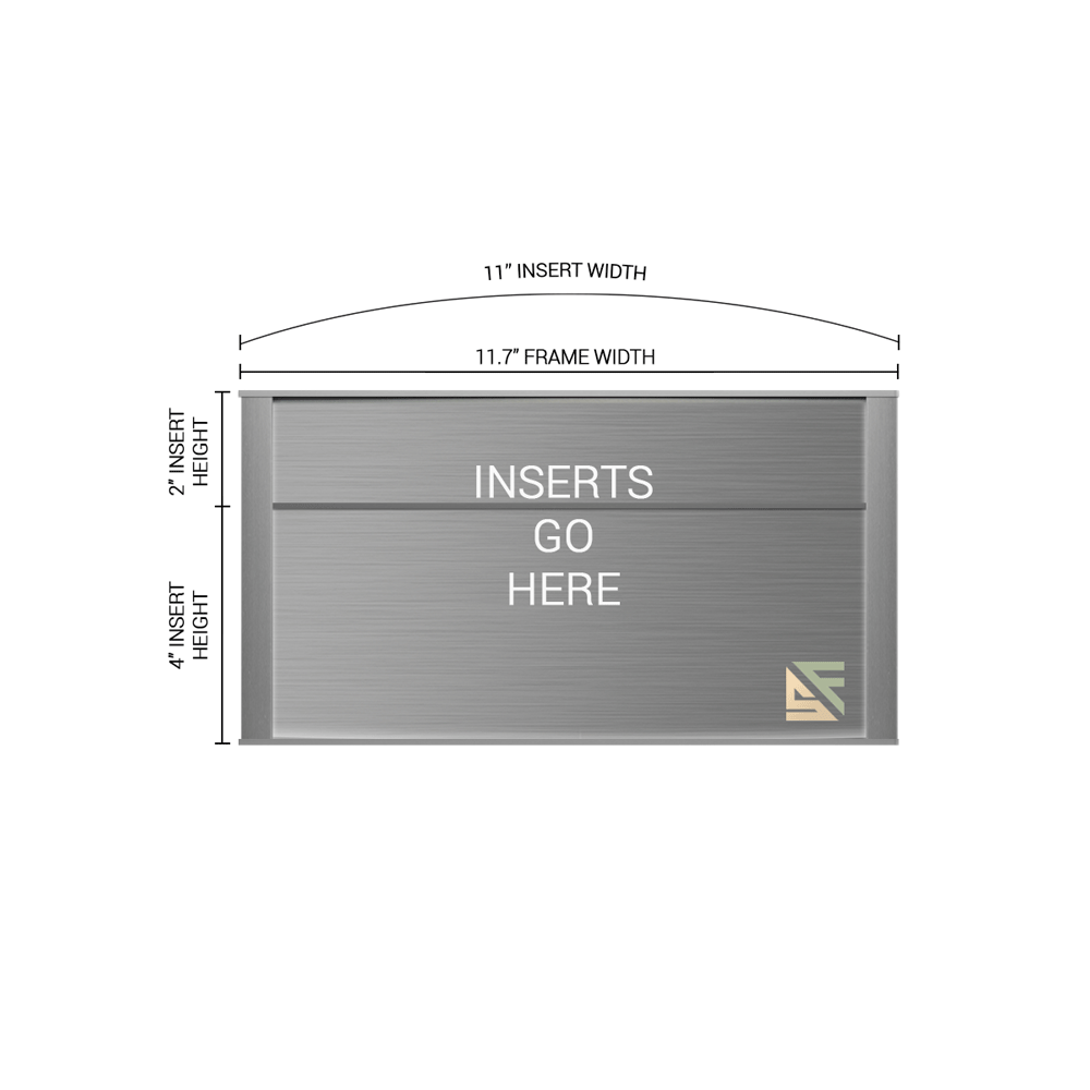 """Office Sign - 6""""H x 11.5""""W (2""""Top) - WFNP159"""