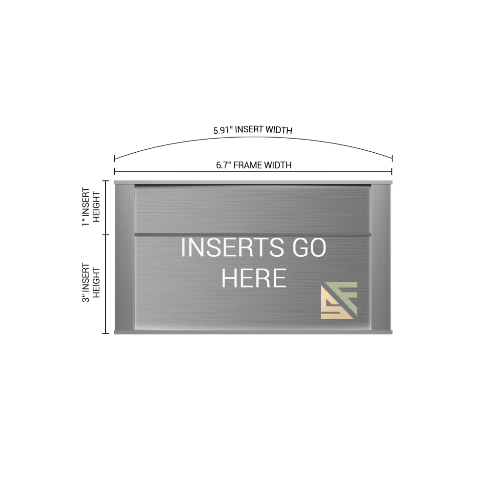 """Office Sign - 4""""H x 6.75""""W (1"""" Top) - WFNP26"""