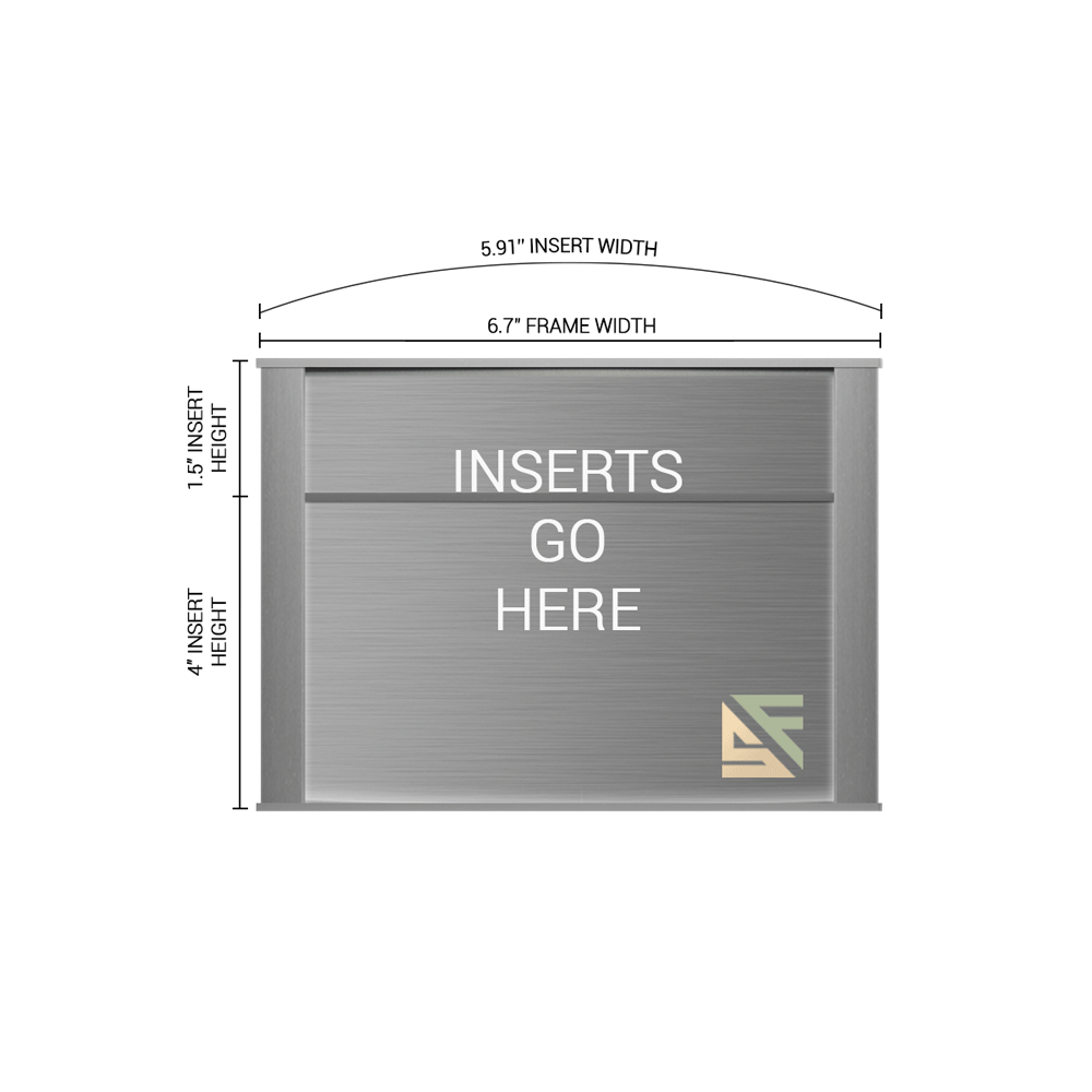 """Office Sign - 5.5""""H x 6.75""""W (1.5"""" Top) - WFNP31"""