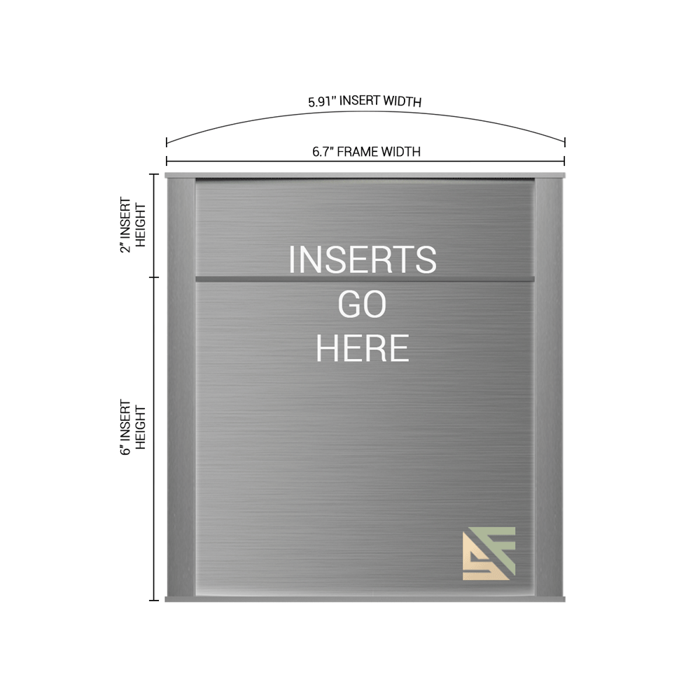 """Office Sign - 8""""H x 6.75""""W (2"""" Top) - WFNP34"""