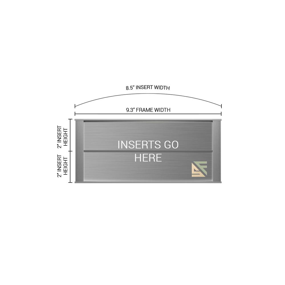 """Conference Room & Slider Sign - 4""""H x 9.25""""W - VNLTRX4"""