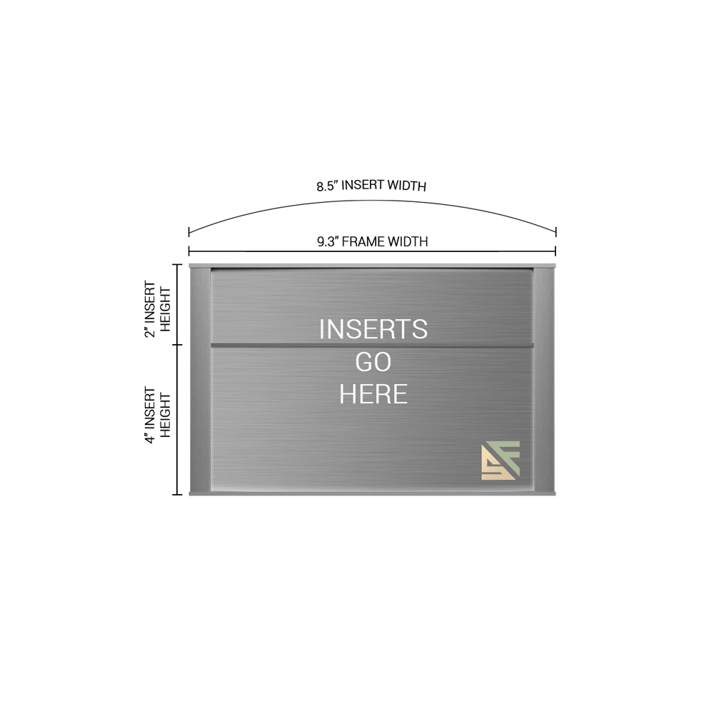 """Office Sign - 6""""H x 9.25""""W (2"""" Top) - WFNP79"""