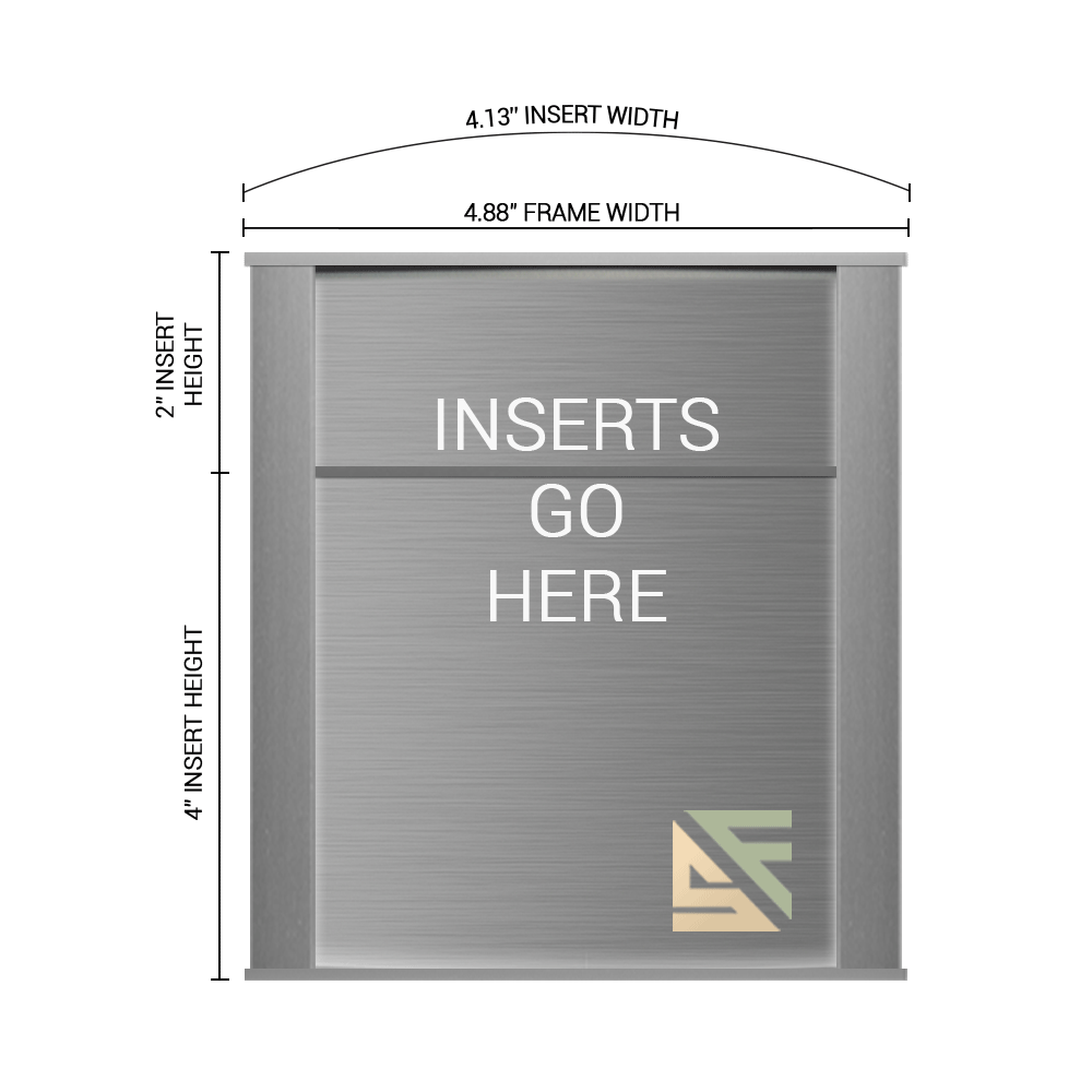 """Office Sign - 6""""H x 5""""W (2"""" Top) - WFNP8"""