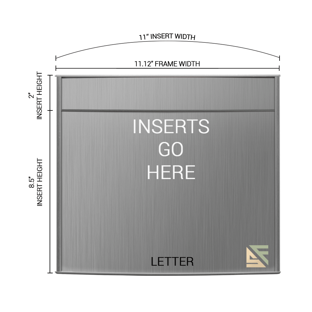 """Office Sign - 10.5""""H x 11""""W (2"""" Top) - WFP163"""