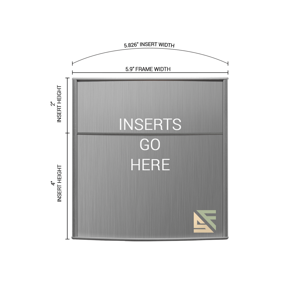 """Office Sign - 6""""H x 6""""W (2"""" Top) - WFP31"""