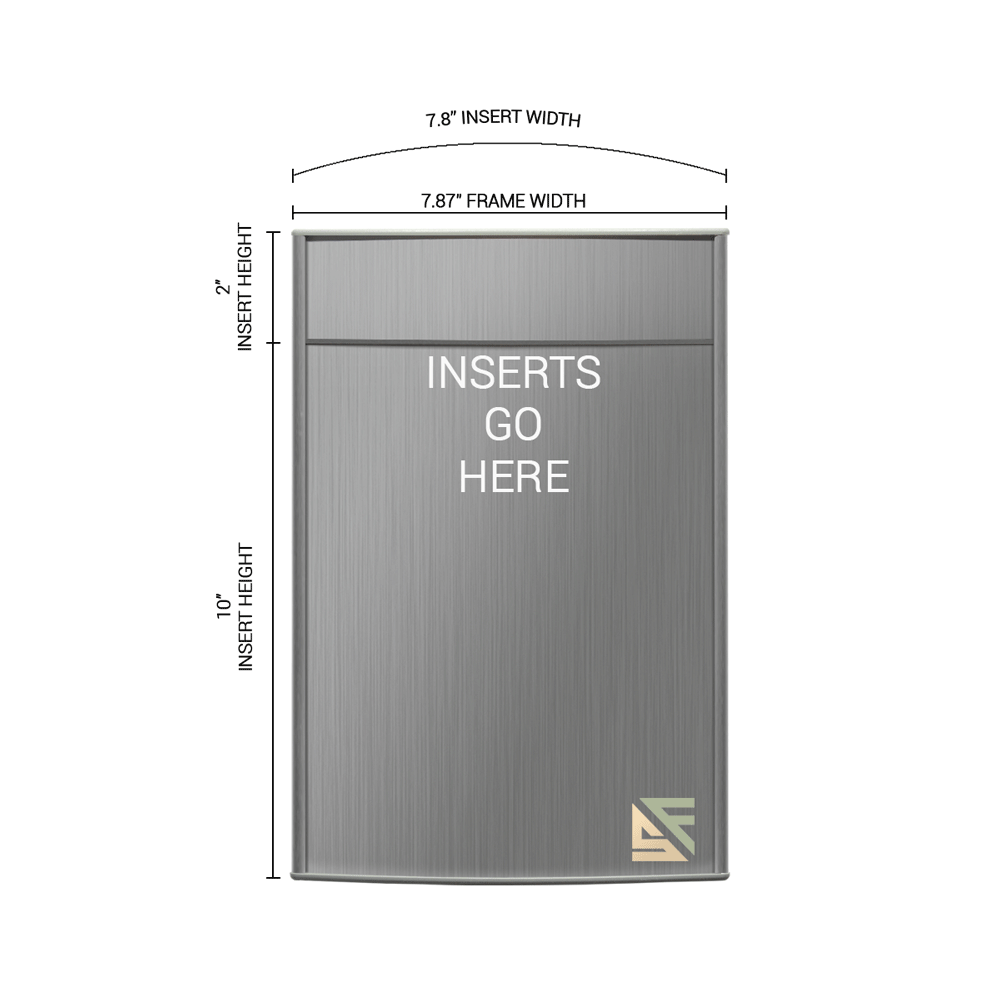 """Office Sign - 12""""H x 8""""W (2""""Top) - WFP51"""