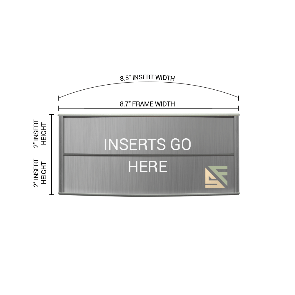 """Office Sign - 4""""H x 8.5""""W (2"""" Top) - WFP76"""