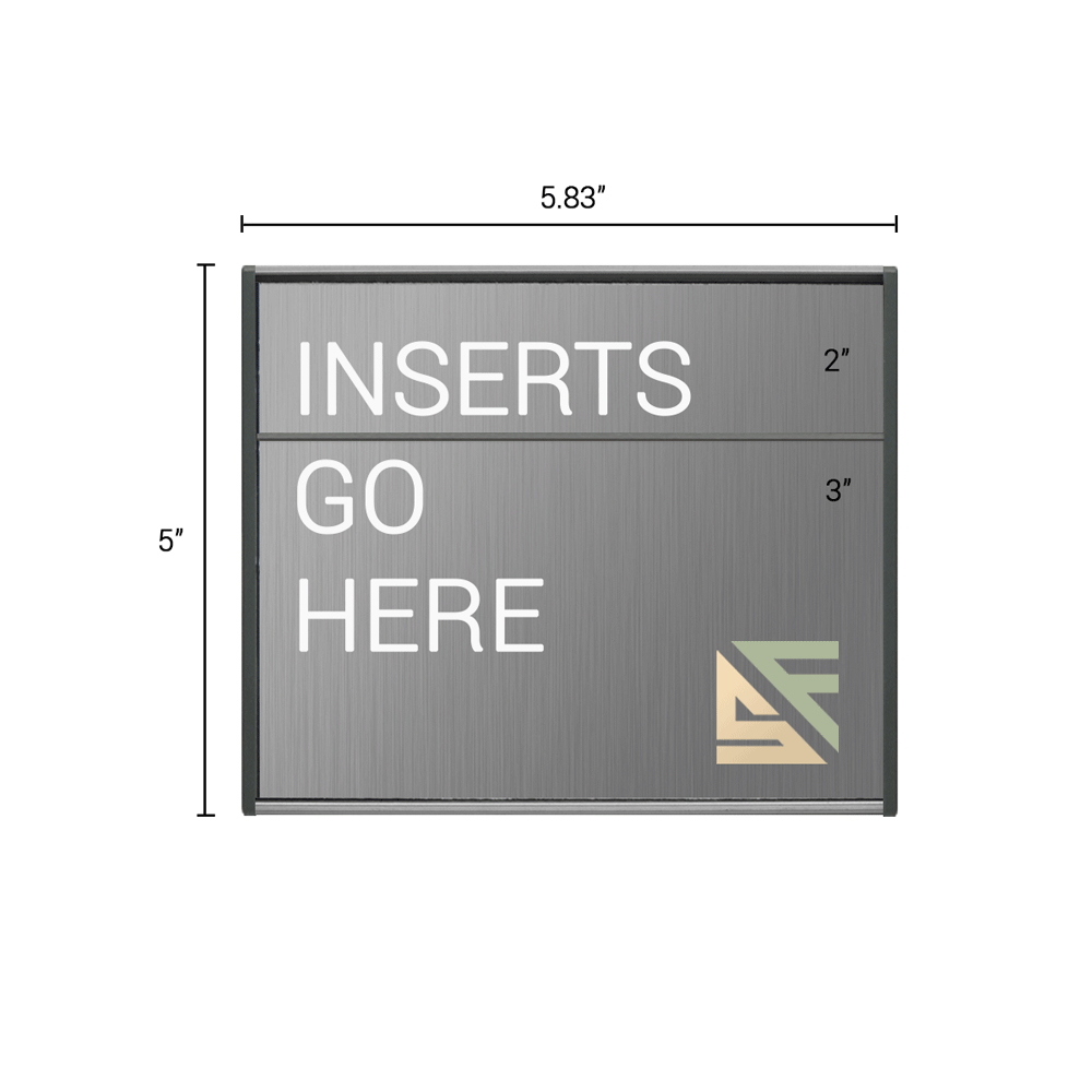 """Office Sign - 5""""H x 5.75""""W (2"""" Top) - WFS2E36"""