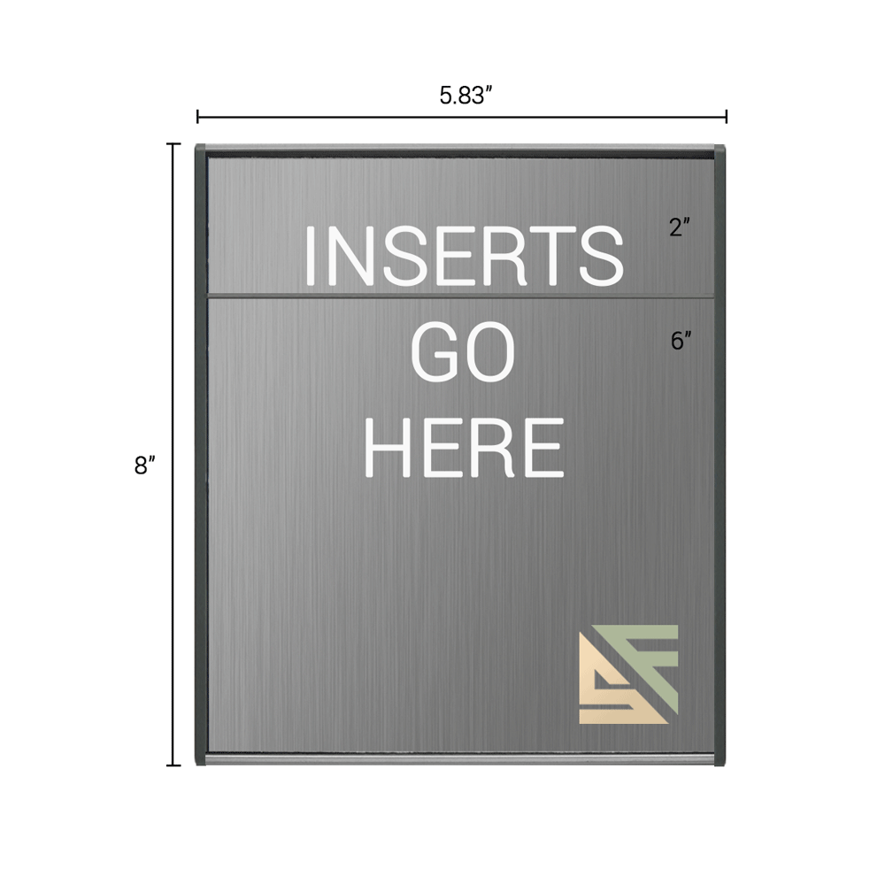 """Office Sign - 8""""H x 5.75""""W (2"""" Top) - WFS2E40"""